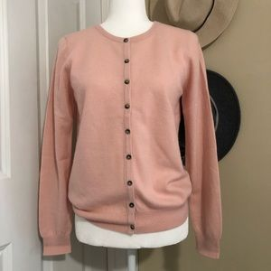 NWOT Boden Cashmere Cardigan in Pink